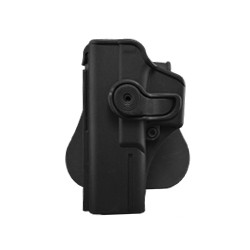 Holster rigide Roto GAUCHER GLOCK 17/18/22/31 + support ceinturon - Noir - IMI Defense
