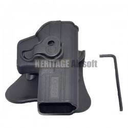 Holster rigide Roto GLOCK - Support ceinturon - Noir - DELTA TACTICS