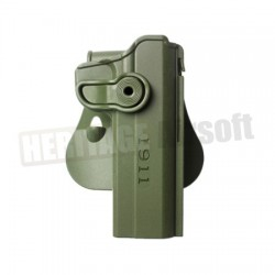 Polymer Holster for COLT 1911 with belt support, Olive