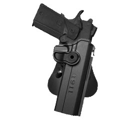 Polymer Holster for COLT 1911 with belt support, Black