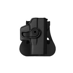 Holster rigide Roto pour GLOCK 26 avec support pour ceinturon, noir