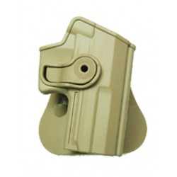 Polymer Retention Roto Holster for H&K USP COMPACT with belt support Tan