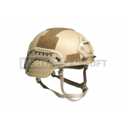 MICH helmet with NVG Mount and Side Rail, Tan color Replica