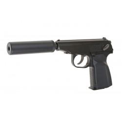 Pistolet Gaz Makarov SD avec rallonge de canon interne WE