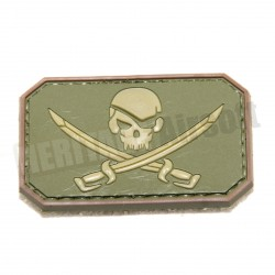 Ecusson PVC avec scratch pirate Multicam
