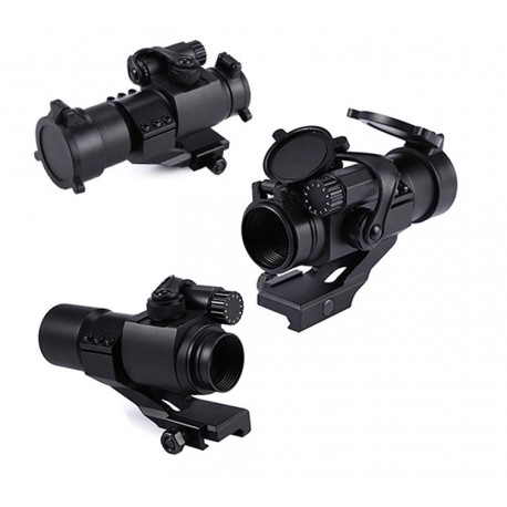 Type Aimpoint M2 Viseur point rouge et vert - Red Dot Sight - 30 mm avec support en L
