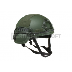 MICH helmet with NVG Mount & Side Rail, olive color Replica