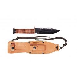 Couteau de survie lame métal style pilote US