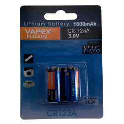 CR123A 3V 1600mAh - Pack de 2