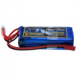 Batterie LiPo PEQ 11,1V 800mAh 25C mini Tamiya