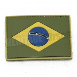Ecusson PVC avec scratch Brésil