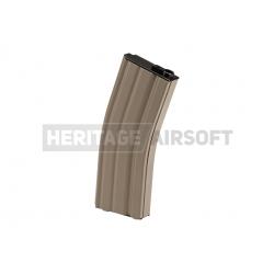 [MID-CAP] Chargeur M4 M16 métal - 125 billes - Tan désert G&G