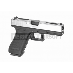 WE18C Pistolet d'airsoft GBB Gen 4 style Glock Metal Dual Tone