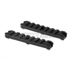 """Rail M-Lok Picatinny noir métal 3.5"""" 2pcs - Ares"""