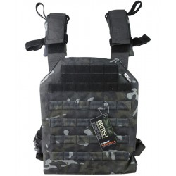 Porte Plaque Sentry Spartan Multicam Black BTP Kombat UK