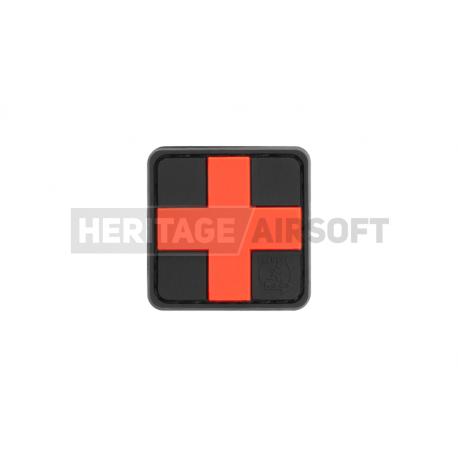 Ecusson PVC avec scratch Medic noir rouge 25mm
