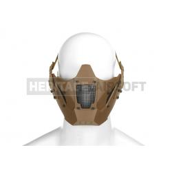 Masque pour casque FAST avec rails grillagé tan