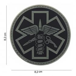 Écusson - Paramédic - Noir - Blanc - PVC