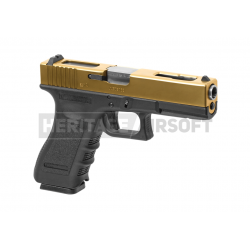 WE 18 Metal GBB gaz style Glock Culasse dorée