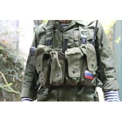 Suspenders magazine pouches AK combat Olive