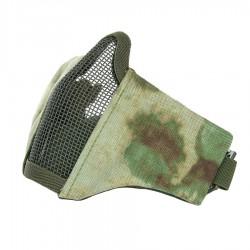 Protection bas de visage airsoft masque grille tissus - Vert Atacs FG