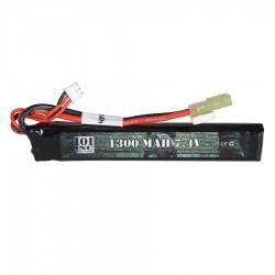 Batterie LiPo stick 7,4V 1300 mAh 20C - 12cm de long - prise miniTamya