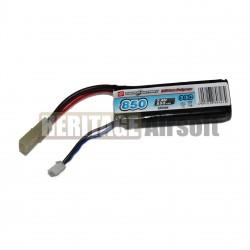 Batterie PEQ LiPo 2S 7,4V 850mAh 30C