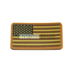 PVC velcro patch USA flag desert