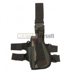 Drop leg holster left-hander woodland - MFH