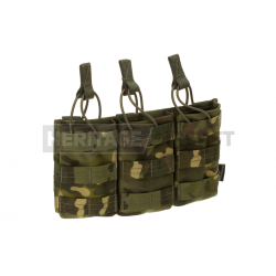 Triple open M4 M 16 Molle Magazine Pouch Tan