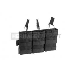 Poche porte chargeurs Mag Pouch MOLLE M4 M16 triple ouvert - noir - Invader Gear