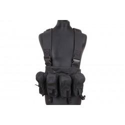 Brelage chest-rig porte-chargeurs AK noir