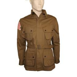 Veste para US M42 renforts Rigger et écussons 101eme Airborne (repro) Taille M