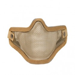 Masque grillagé airsoft de protection - 2 bandes de fixations - Tan