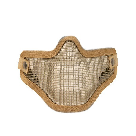 Mesh Mask Airsoft Stalker Style Shadow 2 elastic straps Tan