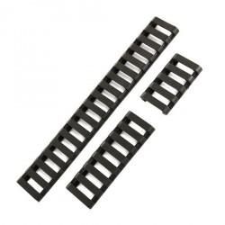 Cache-rails Picatiny - Type escalier à clipser, jeu de 3 - Noir