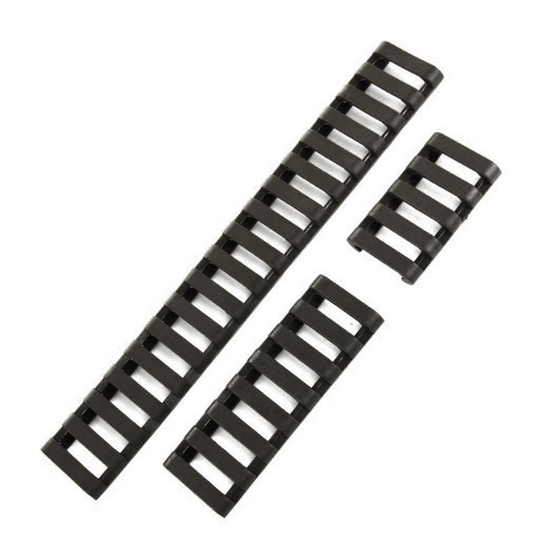 cache rails picatiny type escalier clipser jeu de 3 noir. Black Bedroom Furniture Sets. Home Design Ideas