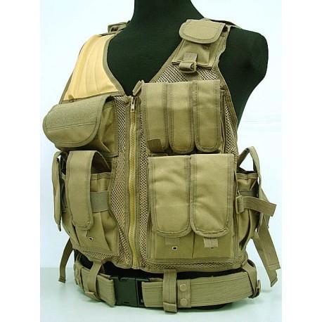 Tactical Mesh vest coyotte