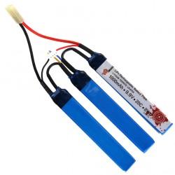 Batterie LiFe 9,9V 1000 mAh 20C type CRANE 3 éléments