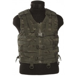 MIL-TEC - Gilet MOLLE airsoft - Maille filet - Olive