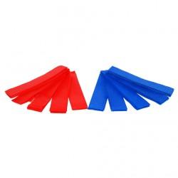 Jeu de 10 brassards - 5 rouges et 5 bleus