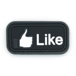 Ecusson PVC avec scratch - J´aime Facebook
