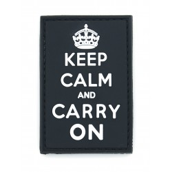 Ecusson PVC avec scratch - Keep Calm - Noir
