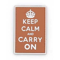 Ecusson PVC avec scratch - Keep Calm - Orange