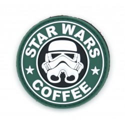 Ecusson PVC avec scratch - Star Wars - Stormtrooper Coffee