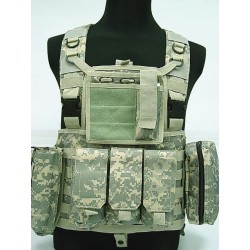 Chest Rig assault suspenders MOLLE with pouches Digital
