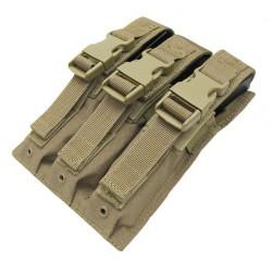 Poche porte chargeur triple MP5 MOLLE - Tan - Condor