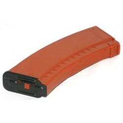 [HI-CAP] Chargeur AK plastique - orange - 500 billes - APS