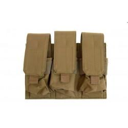 GFC - Poche Triple chargeurs type M4/G36 - TAN