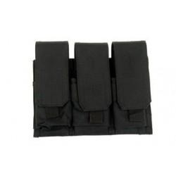 GFC - Poche Triple chargeurs type M4/G36 - NOIR